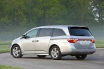 2013 Honda Odyssey Touring in Alabaster Silver Metallic - Static Rear Left Three-quarter View