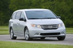 2013 Honda Odyssey Touring in Alabaster Silver Metallic - Driving Front Right View