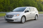 2013 Honda Odyssey Touring in Alabaster Silver Metallic - Driving Front Left Three-quarter View