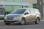 2013 Honda Odyssey Touring in Mocha Metallic - Static Front Left Three-quarter View