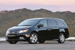 2013 Honda Odyssey Touring in Crystal Black Pearl - Static Front Left Three-quarter View