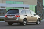 2013 Honda Odyssey Touring in Mocha Metallic - Static Rear Right Three-quarter View