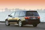 2013 Honda Odyssey Touring in Crystal Black Pearl - Static Rear Left View