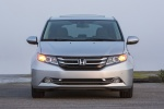 2014 Honda Odyssey Touring Elite in Alabaster Silver Metallic - Static Frontal View