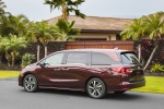 2018 Honda Odyssey Elite in Deep Scarlet Pearl - Static Rear Left View