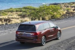 2018 Honda Odyssey Elite in Deep Scarlet Pearl - Driving Rear Right View