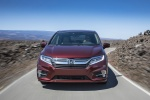 2018 Honda Odyssey Elite in Deep Scarlet Pearl - Driving Frontal View