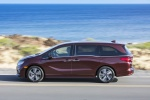 2018 Honda Odyssey Elite in Deep Scarlet Pearl - Driving Left Side View