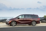 2018 Honda Odyssey Elite in Deep Scarlet Pearl - Static Left Side View