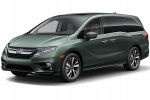2018 Honda Odyssey Elite in Forest Mist Metallic - Static Front Left Three-quarter View