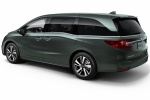 2018 Honda Odyssey Elite in Forest Mist Metallic - Static Rear Left Three-quarter View