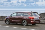 2018 Honda Odyssey Elite in Deep Scarlet Pearl - Static Rear Left Three-quarter View