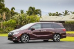2018 Honda Odyssey Elite in Deep Scarlet Pearl - Static Front Left View