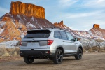 2019 Honda Passport Elite AWD in Lunar Silver Metallic - Static Rear Right View