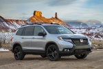 2019 Honda Passport Elite AWD in Lunar Silver Metallic - Static Front Right Three-quarter View