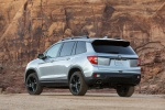 Picture of a 2020 Honda Passport Elite AWD in Lunar Silver Metallic from a rear left perspective
