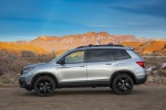 Picture of a 2020 Honda Passport Elite AWD in Lunar Silver Metallic from a left side perspective