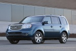 2013 Honda Pilot Touring in Obsidian Blue Pearl - Static Front Left Three-quarter View