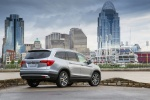Picture of a 2016 Honda Pilot AWD in Lunar Silver Metallic from a rear right perspective