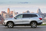 Picture of a 2016 Honda Pilot AWD in Lunar Silver Metallic from a side perspective