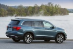 Picture of a 2016 Honda Pilot AWD in Steel Sapphire Metallic from a rear right three-quarter perspective