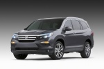 2017 Honda Pilot in Modern Steel Metallic - Static Front Left View