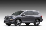 2017 Honda Pilot in Modern Steel Metallic - Static Front Left Three-quarter View