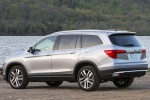 Picture of a 2017 Honda Pilot AWD in Lunar Silver Metallic from a rear left perspective