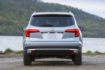 Picture of a 2017 Honda Pilot AWD in Lunar Silver Metallic from a rear perspective