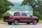 2017 Honda Ridgeline AWD in Deep Scarlet Pearl - Static Rear Right Three-quarter View