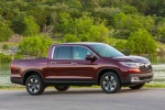2017 Honda Ridgeline AWD in Deep Scarlet Pearl - Static Front Right Three-quarter View
