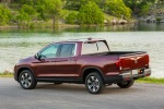 2017 Honda Ridgeline AWD in Deep Scarlet Pearl - Static Rear Left Three-quarter View