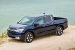 2017 Honda Ridgeline AWD in Obsidian Blue Pearl - Static Front Left Top View