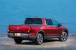2018 Honda Ridgeline AWD in Deep Scarlet Pearl - Static Rear Right View