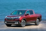 2018 Honda Ridgeline AWD in Deep Scarlet Pearl - Static Front Left View