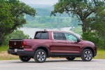 2018 Honda Ridgeline AWD in Deep Scarlet Pearl - Static Rear Right Three-quarter View