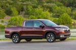 2018 Honda Ridgeline AWD in Deep Scarlet Pearl - Static Front Right Three-quarter View