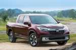 2018 Honda Ridgeline AWD in Deep Scarlet Pearl - Static Front Right View