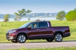 2018 Honda Ridgeline AWD in Deep Scarlet Pearl - Driving Side View