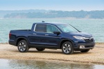 2018 Honda Ridgeline AWD in Obsidian Blue Pearl - Static Front Right Three-quarter View