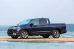 2018 Honda Ridgeline AWD in Obsidian Blue Pearl - Static Front Left Three-quarter View