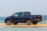 2018 Honda Ridgeline AWD in Obsidian Blue Pearl - Static Rear Left Three-quarter View