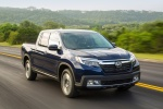 2018 Honda Ridgeline AWD in Obsidian Blue Pearl - Driving Front Right View