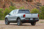 2018 Honda Ridgeline AWD in Lunar Silver Metallic - Static Rear Left View
