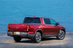 2019 Honda Ridgeline AWD in Deep Scarlet Pearl - Static Rear Right View