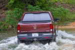 2019 Honda Ridgeline AWD in Deep Scarlet Pearl - Driving Rear View