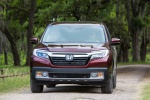 2019 Honda Ridgeline AWD in Deep Scarlet Pearl - Driving Frontal View
