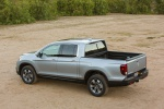 2019 Honda Ridgeline AWD in Lunar Silver Metallic - Static Rear Left Three-quarter View