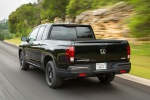 2019 Honda Ridgeline Black Edition AWD in Crystal Black Pearl - Driving Rear Left View