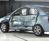 2010 Hyundai Accent IIHS Side Impact Crash Test Picture